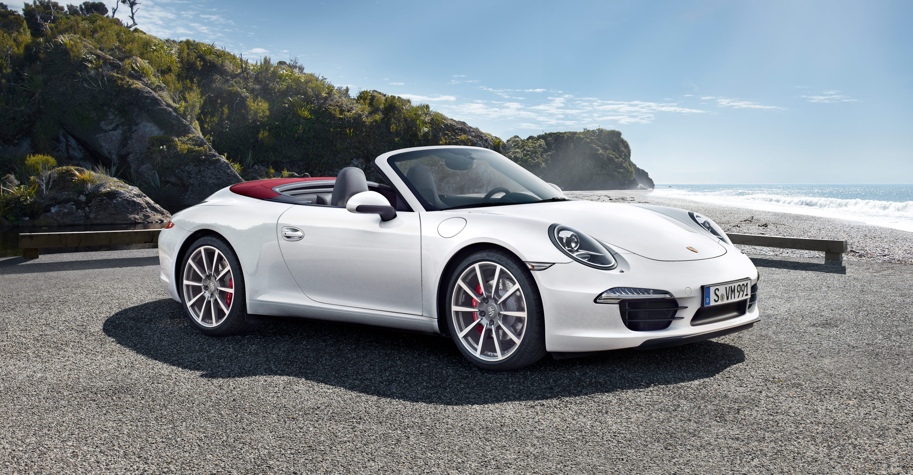2012 Porsche 911 Carrera S Cabriolet - Front angle side view