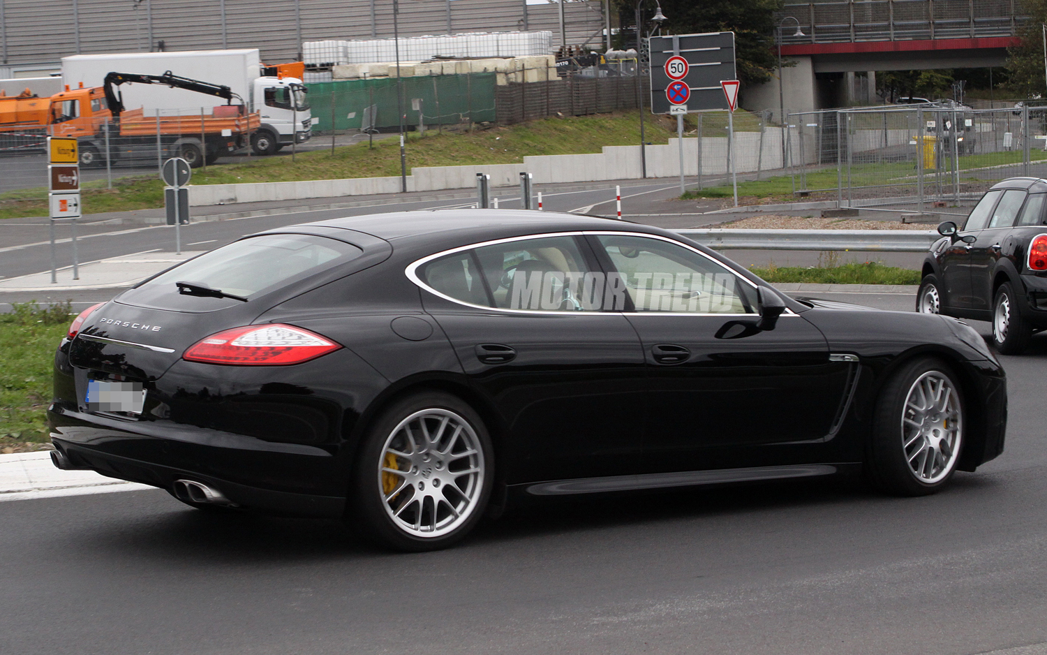 2012 Porsche Panamera facelift Rear angle side view