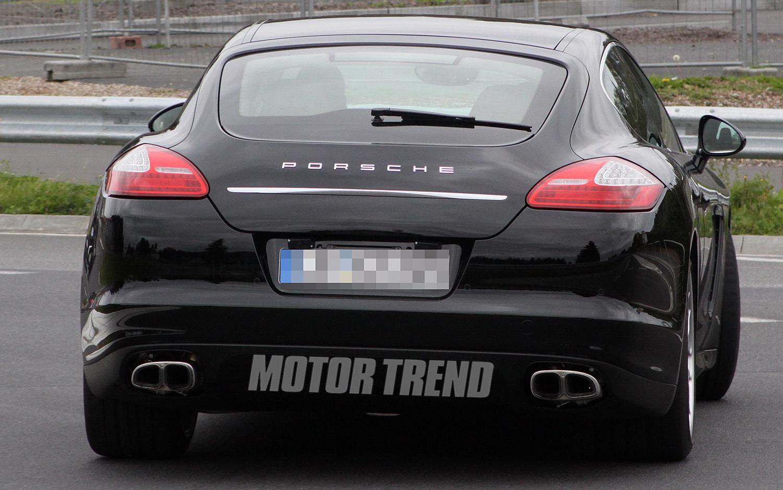2012 Porsche Panamera facelift Rear view
