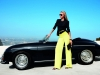 Car girl and Porsche 356 Cabriolet