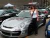 Car girl and Porsche 911 Turbo