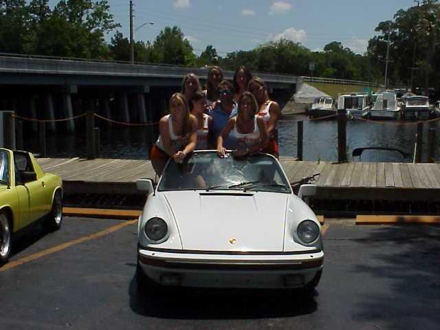 Car girl and Porsche 911 hooters
