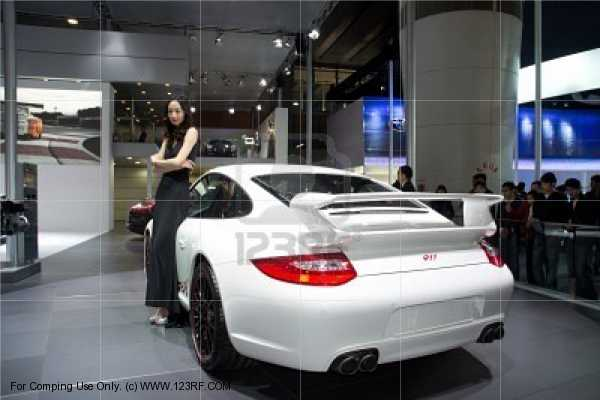 Car Girl and Porsche