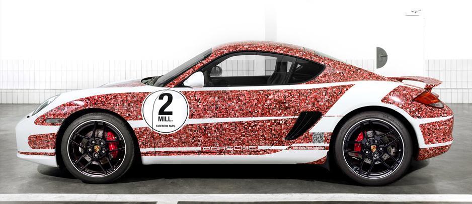 Porsche Cayman S Facebook fan car