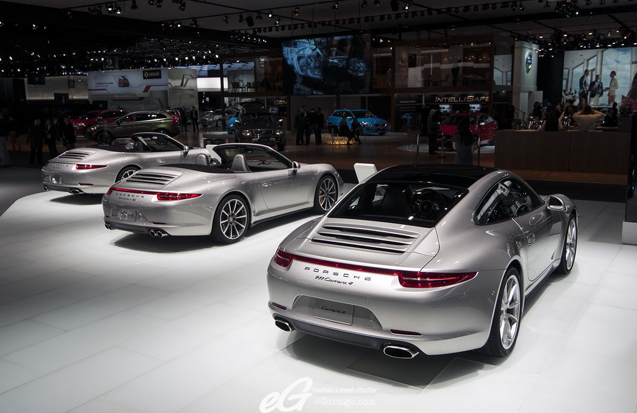2013 Porsche 911 lineup at NAIAS 2013 By eGarage.com