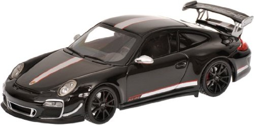 Porsche gift: 2011 Porsche 911 GT3 RS 4.0 997 II in black diecast model car in 1/43 scale model