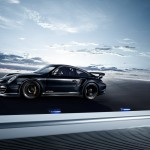 2011 black Porsche 911 GT2 RS wallpaper Side view