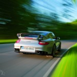 2011 Silver Porsche 911 GT2 RS wallpaper Rear view
