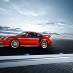 2011 Red Porsche 911 GT2 RS wallpaper Side view