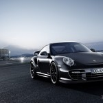 2011 black Porsche 911 GT2 RS wallpaper Front angle view