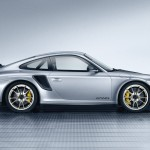 2011 Silver Porsche 911 GT2 RS wallpaper Side view