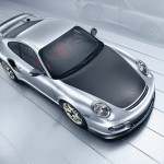 2011 Silver Porsche 911 GT2 RS wallpaper Top view
