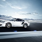 2011 white Porsche 911 GT2 RS wallpaper Side view