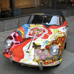 Janis Joplin's 1965 Porsche 356 Convertible Front view