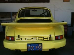 Jerry Seinfeld's yellow Porsche 911