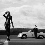 Porsche 356 Speedster and car girl wallpaper