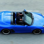 2010 blue Porsche 911 Speedster Top view