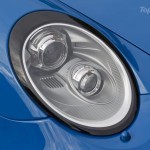 2010 blue Porsche 911 Speedster Front light