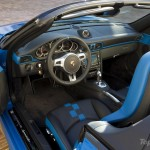 2010 blue Porsche 911 Speedster Interior