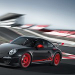 2010 Grey Black Guards Red Porsche 911 GT3 RS wallpaper Front angle Side view