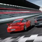 2010 Grey Black Guards Red Porsche 911 GT3 RS wallpaper Rear view