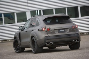 2011 Porsche Cayenne FAB Design Rear angle view