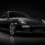 2011 Porsche 911 Black edition Front angle view