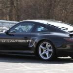 2012 Porsche 911 (991) spy shots Side angle view