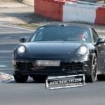 2012 Porsche 911 (991) Cabriolet spy shots Front view