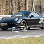 2012 Porsche 911 (991) Cabriolet spy shots Side angle view
