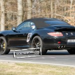 2012 Porsche 911 (991) Cabriolet spy shots Rear angle view