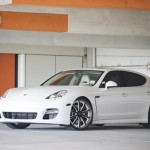 Octavio Dotel's 2010 PorschePanamera Turbo Front angle view