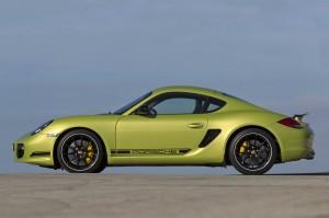 Peridot Metallic 2011 Porsche Cayman R Side view