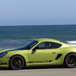 Peridot Metallic 2011 Porsche Cayman R Side view