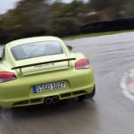 Peridot Metallic 2011 Porsche Cayman R Rear view