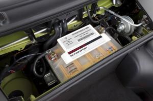 Peridot Metallic 2011 Porsche Cayman R Batterry