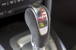 Peridot Metallic 2011 Porsche Cayman R Gear box