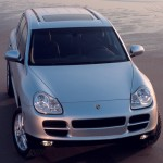 Porsche Cayenne 2003 wallpaper Front top view