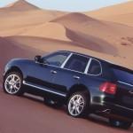 Porsche Cayenne 2003 wallpaper Rear side angle view