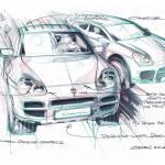 Porsche Cayenne 2003 wallpaper Drawing