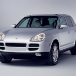 Porsche Cayenne 2004 1600x1200 wallpaper Front angle view