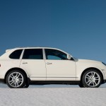 White Porsche Cayenne 2008 1600x1200 wallpaper Side view