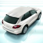 Porsche Cayenne 2011 1600x1200 wallpaper Rear angle top view