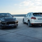 Porsche Cayenne 2011 1600x1200 wallpaper Two Porsches