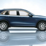 Blue Metallic Porsche Cayenne Diesel 2011 3000x1560 wallpaper Side view