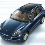 Blue Metallic Porsche Cayenne Diesel 2011 3000x1560 wallpaper Front angle top view
