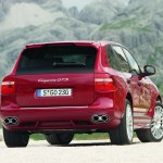 Red Porsche Cayenne GTS 2008 1600x1200 wallpaper Rear angle view