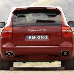 Red Porsche Cayenne GTS 2008 1600x1200 wallpaper Rear view