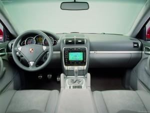 Red Porsche Cayenne GTS 2008 1600x1200 wallpaper Interior