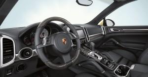 Yellow Porsche Cayenne S 2011 3000x1560 wallpaper Interior